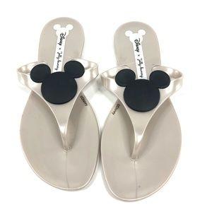 Disney x Jelly Bunny Flip Flops Mickey Mouse Tan
